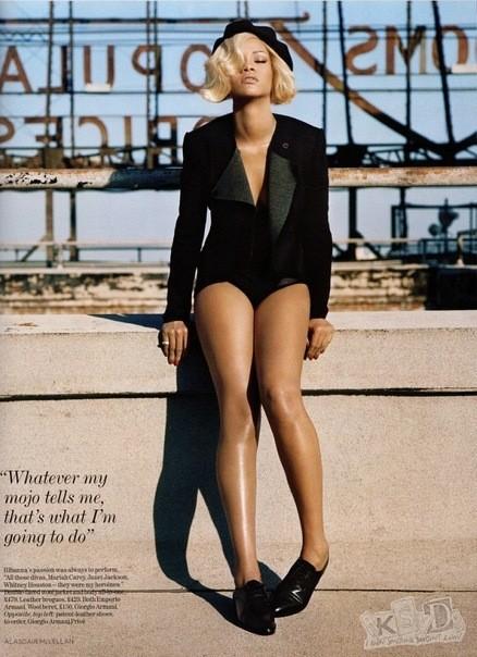 Съёмка: Рианна для британского Vogue. Изображение № 2.