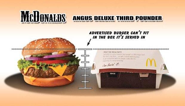 Фотограф сравнил бургеры в рекламе и в реальной жизни. Изображение № 6.