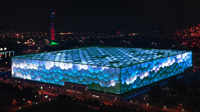 Бассейн в Пекине транслирует эмоции интернет-пользователей. Изображение № 1.
