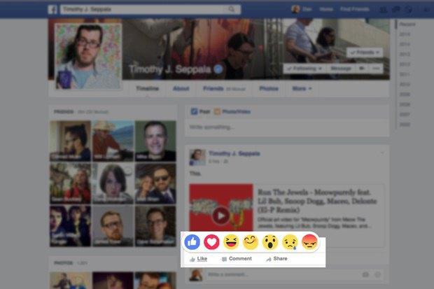 В Facebook появятся 6 эмоциональных альтернатив лайку. Изображение № 1.