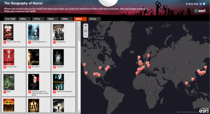 Создана интерактивная карта хорроров. Изображение № 3.