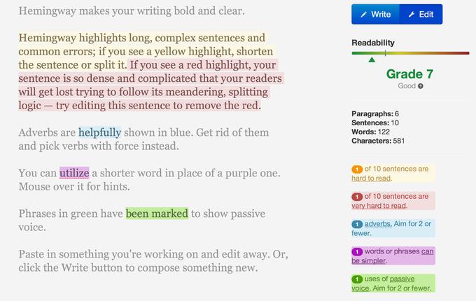 Вышло приложение для писателей «Хемингуэй». Изображение № 1.