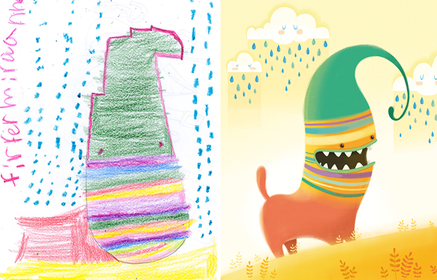 Художники создали монстров наоснове детских рисунков. Изображение № 6.