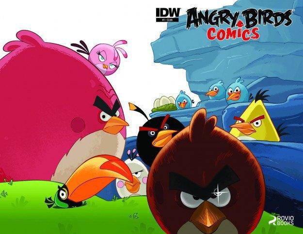Опубликована обложка первого комикса по Angry Birds. Изображение № 1.