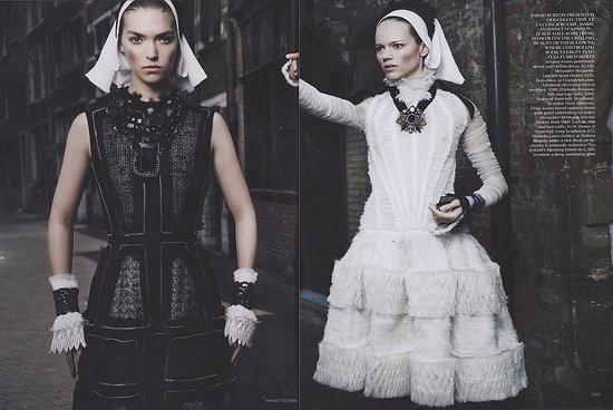 Съёмка: Аризона Мьюз и Фрея Беха Эриксен для британского Vogue. Изображение № 9.
