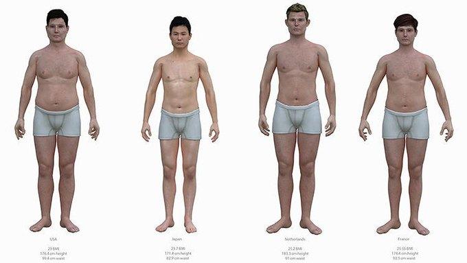Художник создал модели тел мужчин разных стран. Изображение № 3.