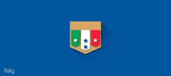 Представлены «плоские» версии гербов национальных сборных . Изображение № 13.