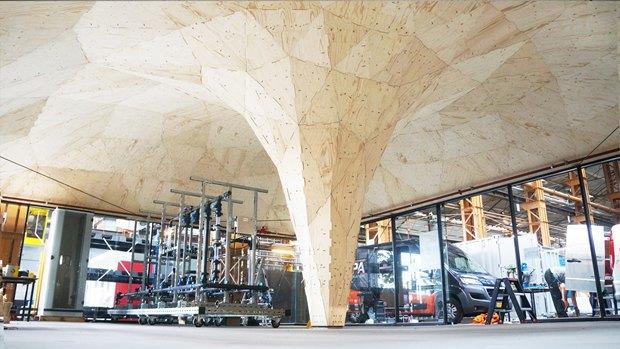 В Роттердаме робот помог возвести деревянный павильон. Изображение № 5.