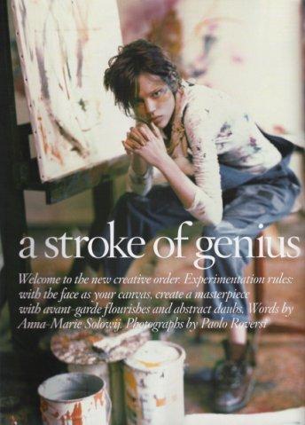 Vogue UK– Apr2008 – A Stroke ofGenius. Изображение № 1.