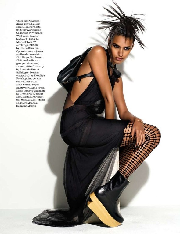"Съёмка: ""GO!"" Lakshmi Menon 4 Elle UK December 2011. Изображение № 9."
