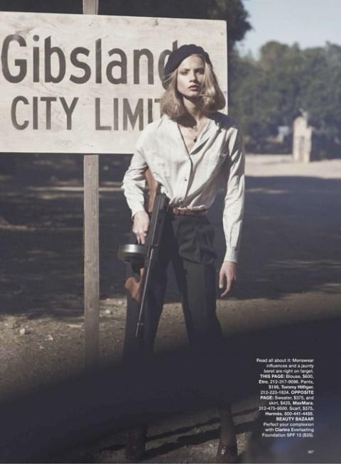 Бонни и Клайд в Harpers Bazaar. Изображение № 5.