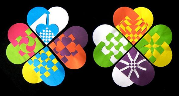 Сердечные корзинки.  Плетеные корзины из бумаги это классика.  Возможно, они сложнее, чем кажется, но только в начале.