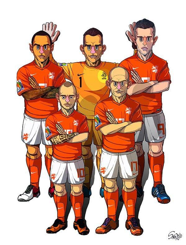 Иллюстратор нарисовал все 32 команды ЧM по футболу . Изображение № 7.