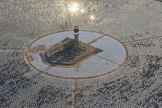 Гигантская солнечная электростанция может ослепить пилотов самолётов . Изображение № 1.