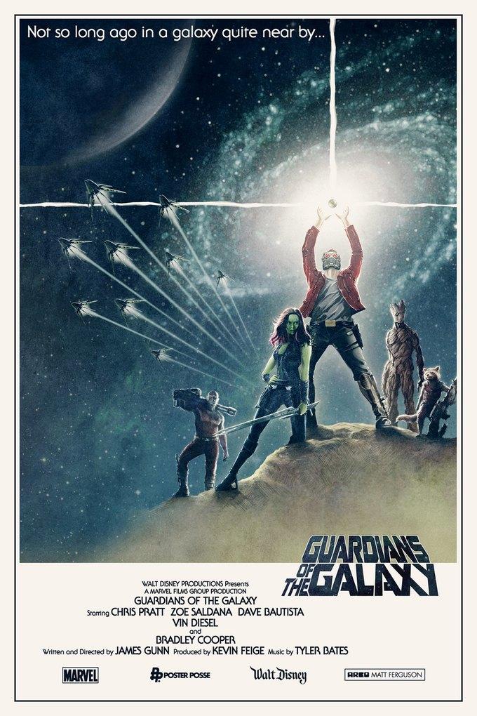 Опубликованы 44 фанатских постера к «Стражам Галактики». Изображение № 29.