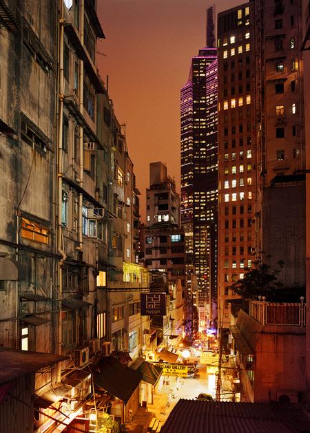 Мегаполисы ночью Гонконг, Дубаи, Нью-Йорк, Шанхай. Изображение № 2.
