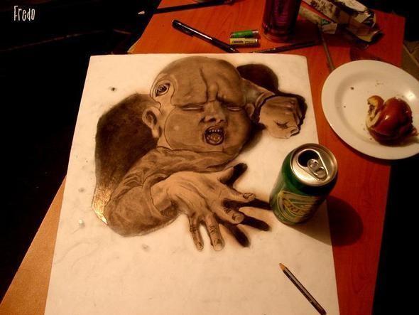 """Изображение 11. Реалистичные 3D рисунки """"в карандаше"""".. Изображение № 11."""