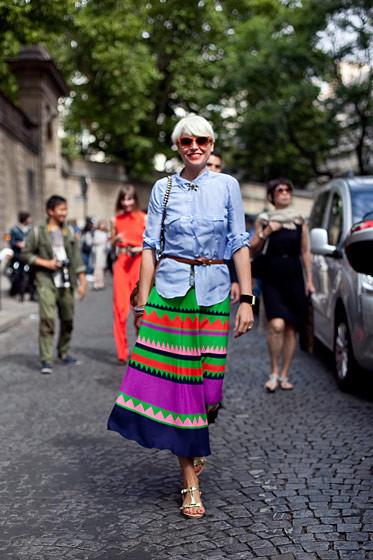 Уличный стиль на Неделе высокой моды в Париже. Изображение № 71.