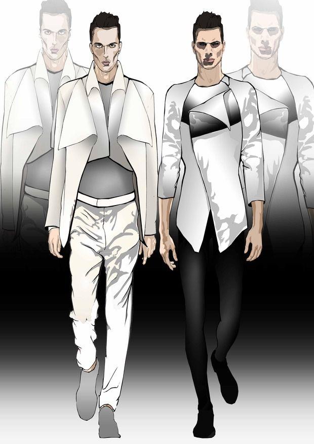Men fashion sketches. Изображение № 2.
