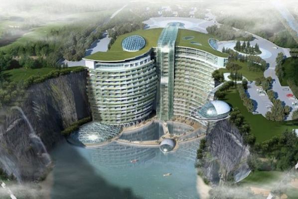В Китае строят грандиозный отель в скалистой пещере. Изображение № 4.