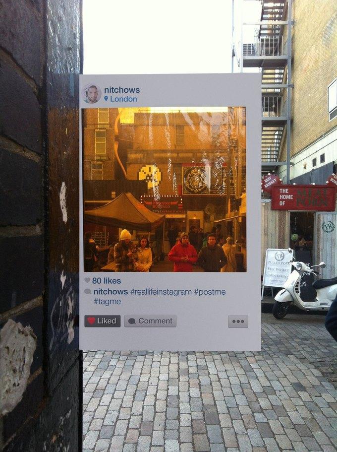 Художник перенёс Instagram на улицы города. Изображение № 1.