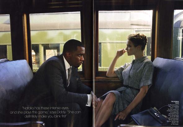 Водянова и Пи Дидди: Любовь в поезде. Изображение № 7.
