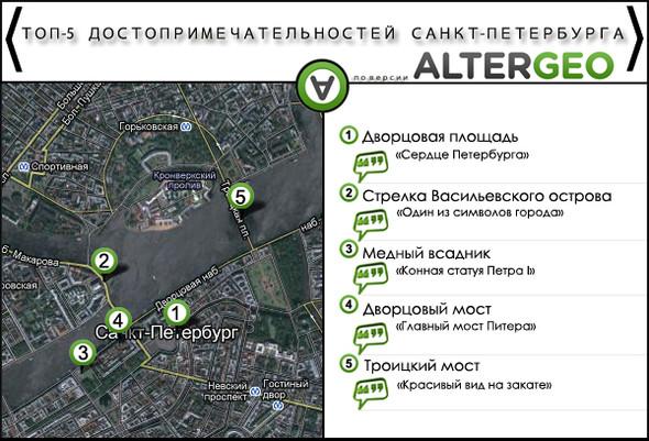 Самые модные места Петербурга в отечественном геосервисе. Изображение № 4.