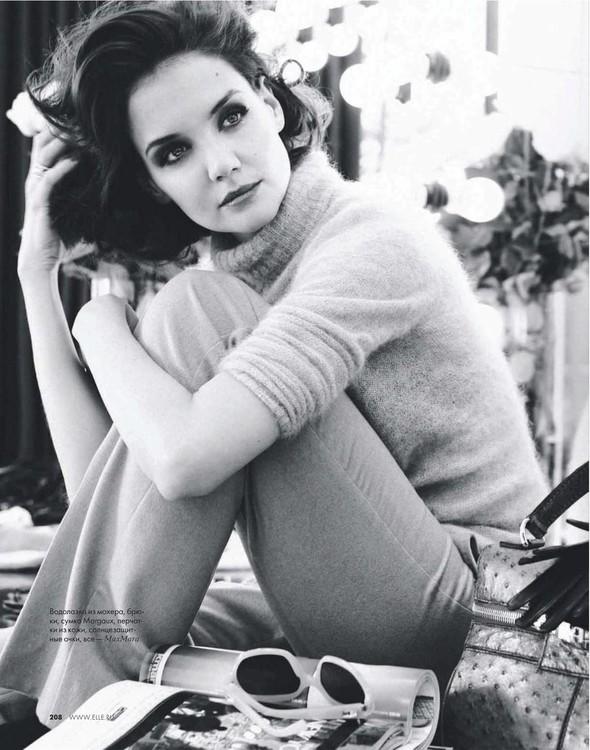 Съёмка: Кэти Холмс для Elle. Изображение № 4.