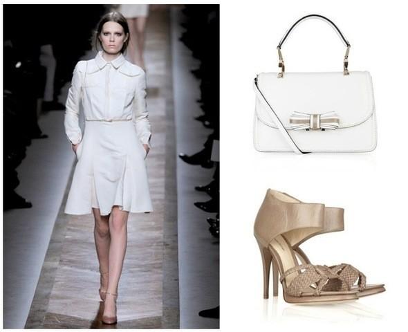 Платье Valentino, сумка Valentino, туфли Alexandre Birman. Изображение № 3.