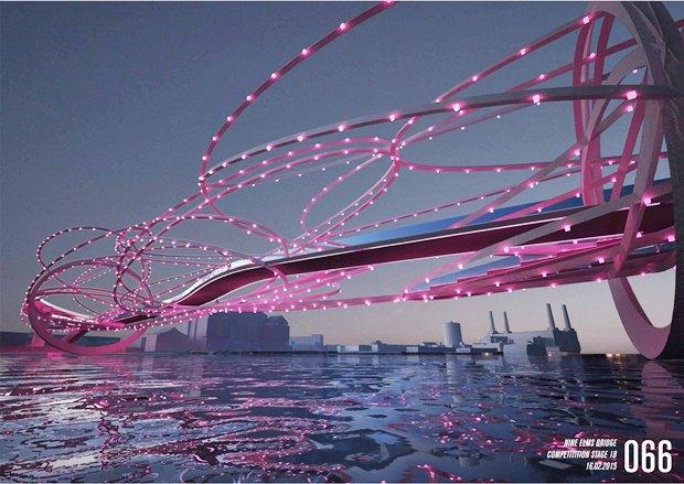 Выложены 74 проекта нового моста через Темзу. Изображение № 59.