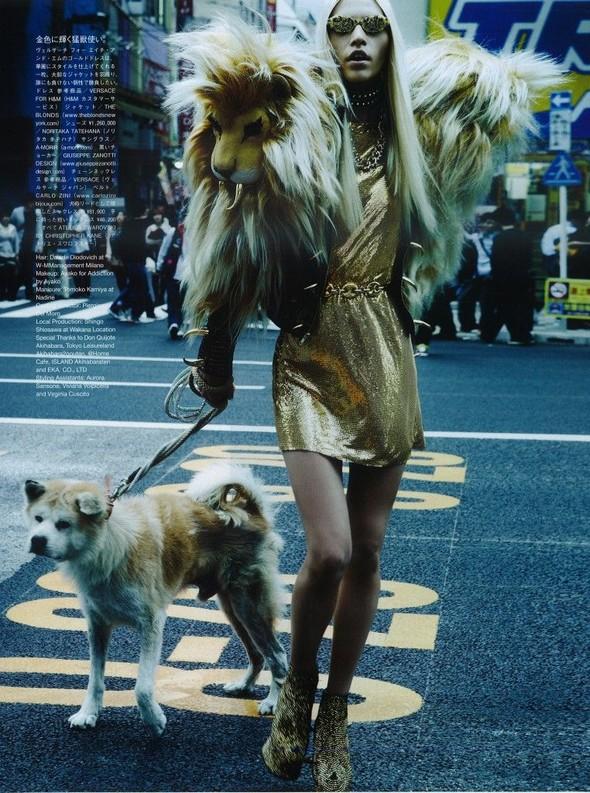 Элин Вебер The Girl Who Rocks The Planet в апрельском Vogue Япония. Изображение № 15.