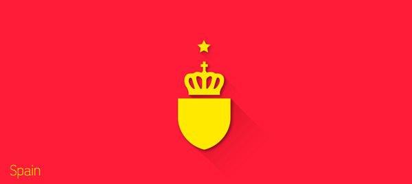 Представлены «плоские» версии гербов национальных сборных . Изображение № 20.