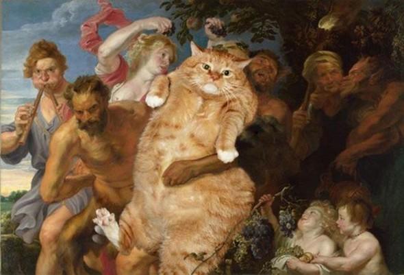 Новый взгляд на полотна великих художников. В главной роли кот. Изображение № 18.