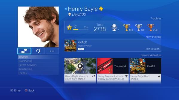 Выложены изображения и видео интерфейса PS4. Изображение № 4.