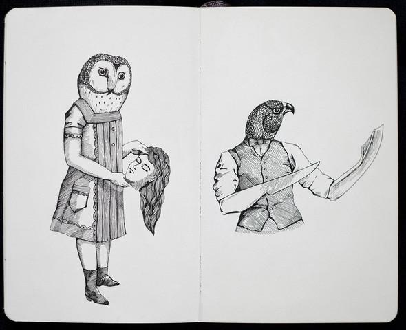 Чёрные ручки, молескин. Изображение №6.