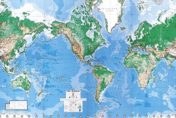 Карта мира с точки зрения Америки, Австралии, ЮАР и Франции. Изображение №5.