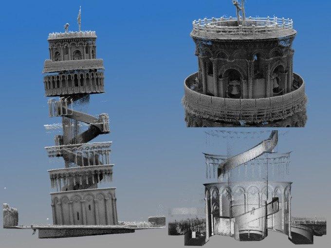 Учёные оцифровали интерьер Пизанской башни. Изображение № 1.
