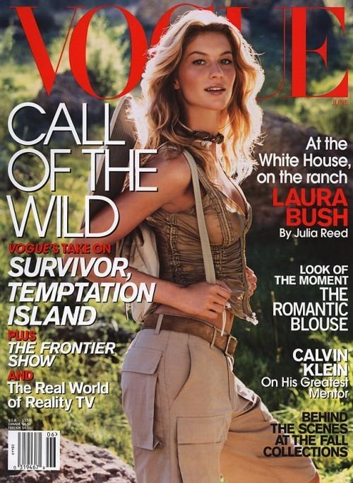 Вспомнить все или 11 обложек Жизель для Vogue US. Изображение № 7.