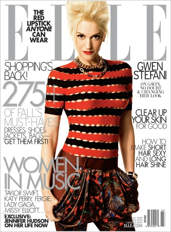 Gwen Stefani, ELLE USJuly 2009. Изображение № 1.