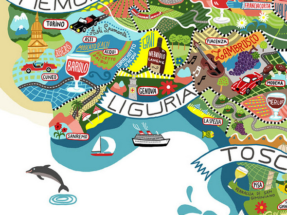 Винная карта Италии от Antoine Corbineau. Изображение № 7.