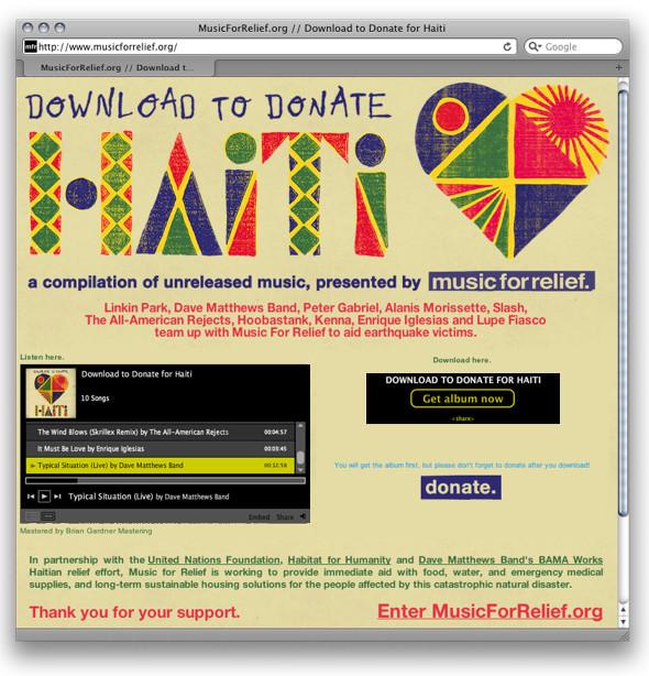 Музыка в помощь Гаити. Изображение № 3.