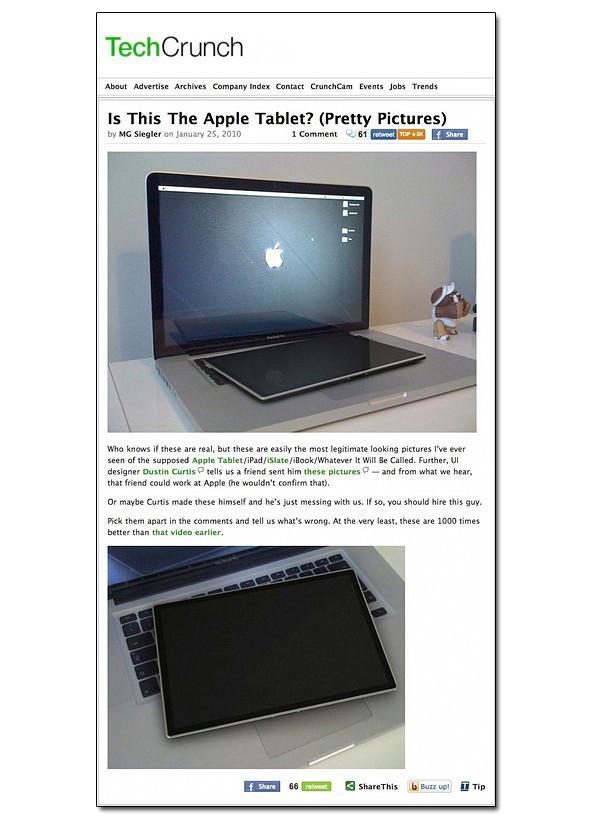 Так будет выглядеть новый планшет Apple Tablet. Изображение № 1.