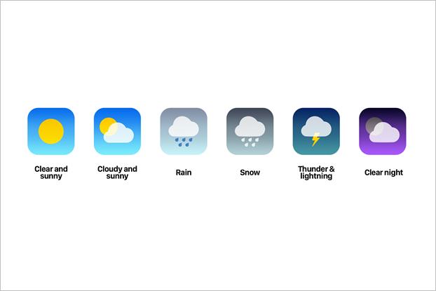 Пример динамических иконок для погодного приложения. Изображение № 6.