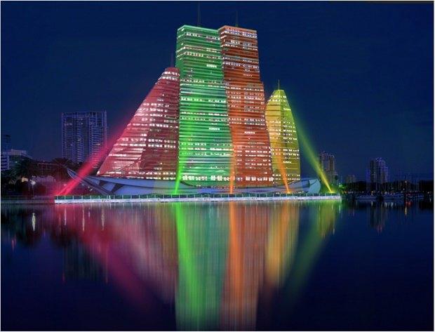 Российский архитектор показал больницу-небоскрёб в виде яхты. Изображение № 3.