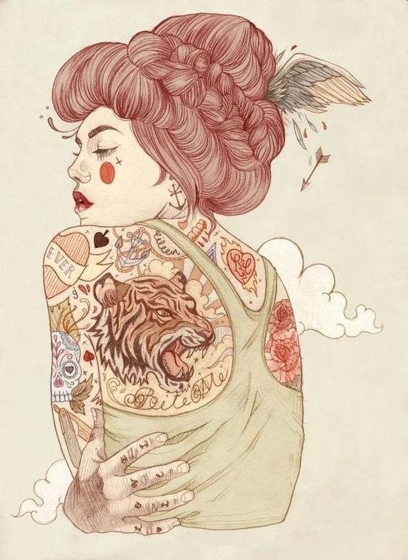 Карандашные рисунки художницы из Лондона Liz Clements.. Изображение № 2.