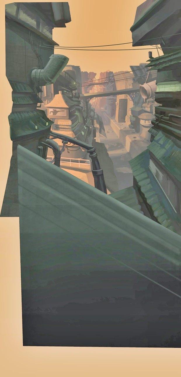 Анимация: бродяга спасает пса встимпанковском городе. Изображение № 30.