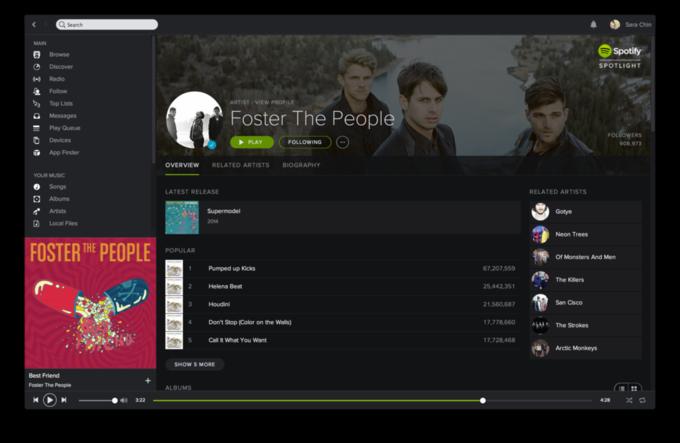 Сервис Spotify обновил дизайн. Изображение № 4.