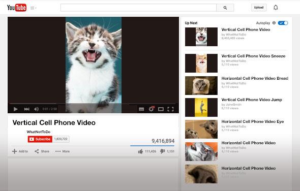 Slate предложил концепт вертикального видео на YouTube. Изображение № 1.