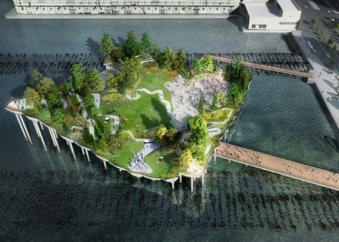 Пирс в Нью-Йорке превратят в плавучий парк. Изображение № 1.