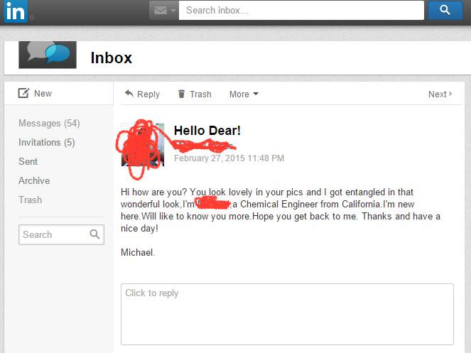 Странные письма из LinkedIn собирают в блоге CreepedIn. Изображение № 8.